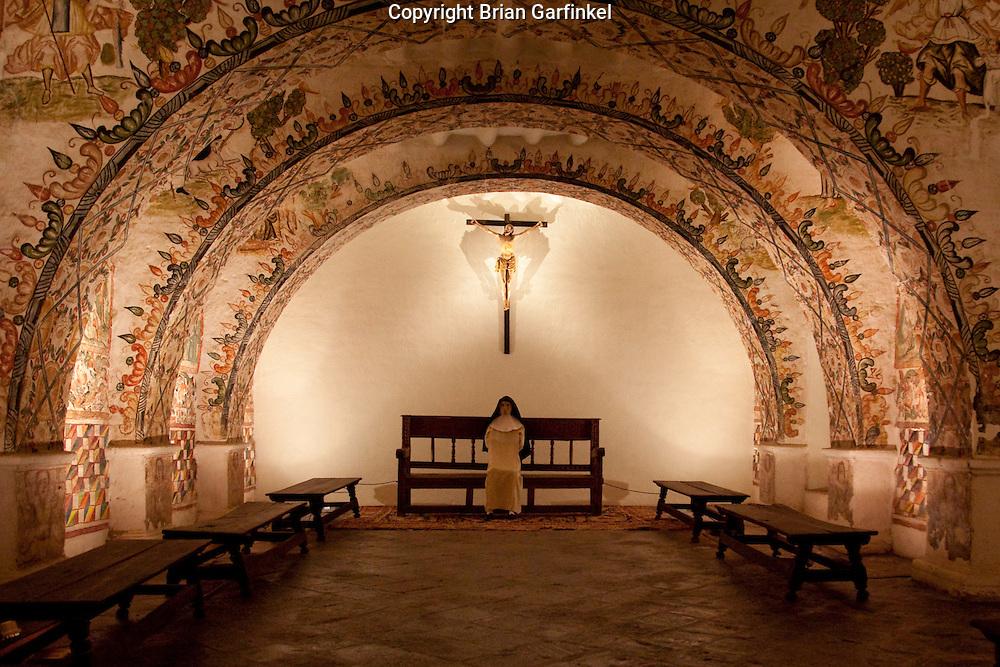A sanctuary in the St. Catalina Monastery in Cusco Peru