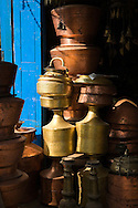 Brassware has long been used in Nepal for various practical as well as ornamental purposes such as ornately shaped bells or even simple water jugs.
