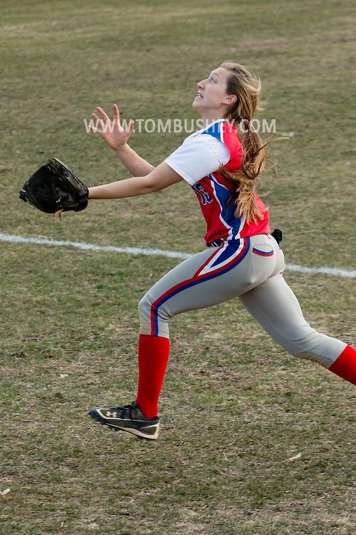 Goshen, New York - Warwick at Goshen varsity girls' softball April 6, 2015.