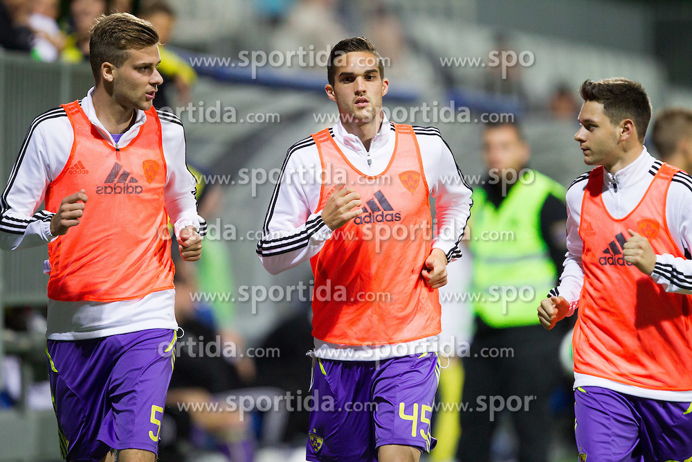 Zeljko Filipovic, Nejc Mevlja and Ranko Moravac of Maribor during football match between NK Maribor and NK Celje in final of Slovenian Cup 2013 on May 29, 2013 in Stadium Bonifika, Koper, Slovenia. Maribor defeated Celje 1-0 and became Slovenian Cup Champion 2013. (Photo By Vid Ponikvar / Sportida)
