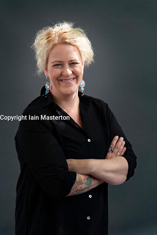 Edinburgh, Scotland, UK. 23 August 2019. Lilja Sigurdaróttir.Crim writer Lilja Sigurdarottir's new book, Trap is the second entry in Sigurdaróttir's Reykjavik Noir trilogy . Iain Masterton/Alamy Live News.