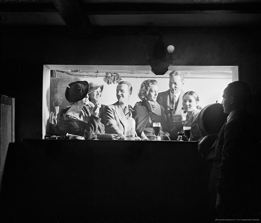 "At the Bar in the Pheasantry Club, ""Bohemia"" Series, London, 1935"