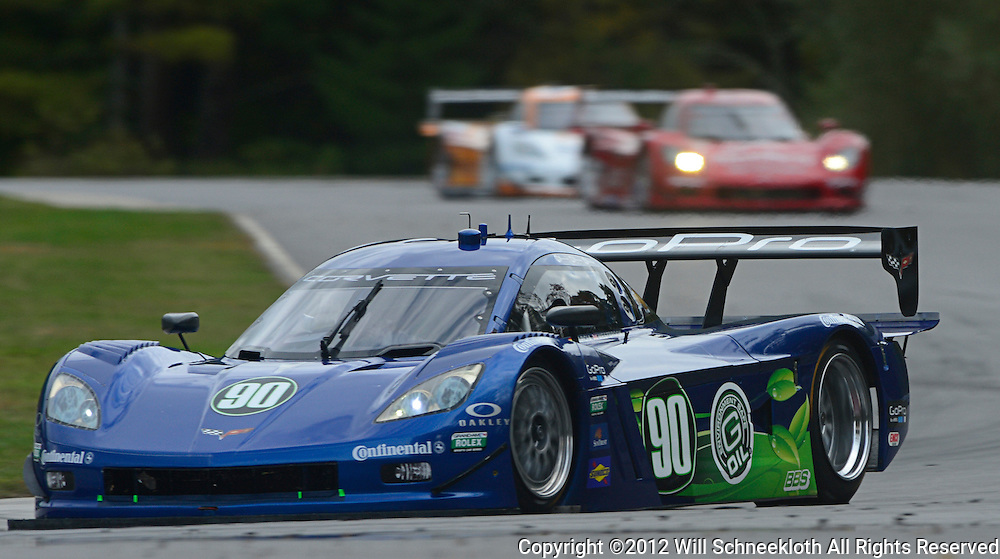 The Spirit of Daytona Racing Chevrolet Corvette DP driven by Antonio Garcia of Spain and Richard Westbrook of England during the Grand-Am Rolex Sports Car Series Championship weekend at Lime Rock Park in Lakeville, Conn.