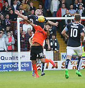 James McPake wins an aerial challenge against Darko Bodul - Dundee United v Dundee at Tannadice<br /> - Ladbrokes Premiership<br /> <br />  - © David Young - www.davidyoungphoto.co.uk - email: davidyoungphoto@gmail.com