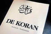 Nederland, Nijmegen, 11-3-2005..De koran, het heilig gebedsboek van de islam, moslims. Geloof, religie, islamitisch. Boek, omslag...Foto: Flip Franssen