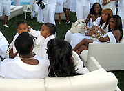 P. Diddy, Kim Porter with their twin kids and Lil' Kim.P. Diddy Real White Party to commemorate Labor Day.P. Diddy Easthampton Estate.Easthampton, NY, USA.Sunday, September, 02, 2007.Photo By Celebrityvibe; .To license this image please call (212) 410 5354 ; or.Email: celebrityvibe@gmail.com;.