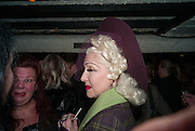 PINKIETESSA, Publication party for We Can Be Heroes, Graham Smith and Chris Sullivan's photo history of London Clubland from 1976-1984,  St Moritz, Wardour St. Soho,London. 20 November 2012.