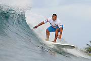November 1st 2010: Danilo Rodrigo during the trails for the ASP World Longboard Championship at Makaha Oahu-Hawaii. Photo by Matt Roberts/mattrIMAGES.com.au