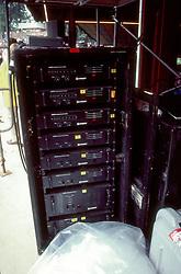 Stacks of Crest Amplifiers, Merriweather Post Pavilion, 20 June 1983, before the Grateful Dead Concert