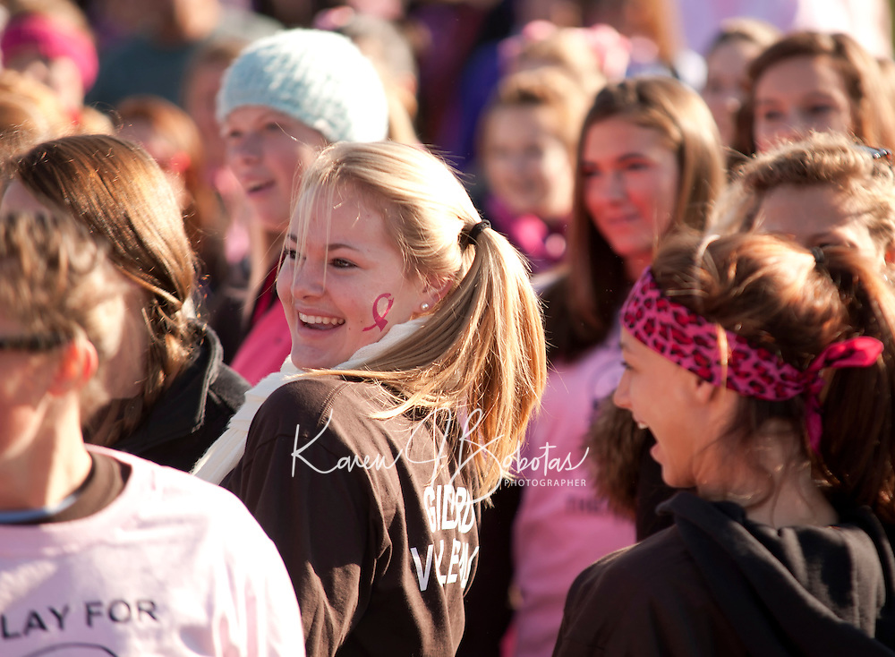 Making Strides against breast cancer walk at Opechee Park Laconia, NH October 17, 2010.