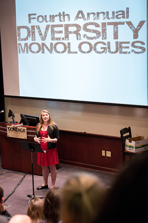 Corinne Gould - Diversity Monologues 2014 (Photo by Gonzaga University)