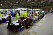 Garment workers working inside an Epyllion Group garment factory in Bangladesh.