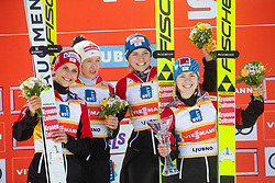 IRASCHKO-STOLZ Daniela, KRAMER Marita, PINKELNIG Eva, HOELZL Chiara (AUT) celebrates after Day 1 of FIS Ski Jumping World Cup Ladies Ljubno 2020, on February 22th, 2020 in Ljubno ob Savinji, Ljubno ob Savinji, Slovenia. Photo by Matic Ritonja / Sportida