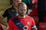 York City midfielder Russell Penn during the Sky Bet League 2 match between York City and Cambridge United at Bootham Crescent, York, England on 3 October 2015. Photo by Simon Davies.