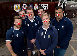 Players from Bristol Rugby, Bristol Sport Red Nose Day. - Photo mandatory by-line: Joe Meredith/JMP - Mobile: 07966 386802 - 05/03/2015 - SPORT - football - Bristol - Ashton Gate - Red Nose Day