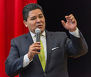 Houston ISD Superintendent Richard Carranza comments during a stop of the Listen & Learn tour at Marshall Elementary School, September 20, 2016.