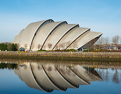View of SEC Armadillo centre beside River Clyde in Glasgow , United Kingdom