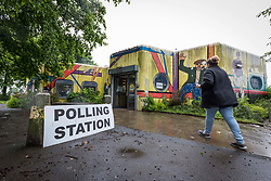&copy; Licensed to London News Pictures. 8/6/17  MANCHESTER   , UK.  <br /> The polls open for the 2017 General Election. Polling station at Newton Heath library , Manchester.<br />   <br /> Photo credit: CHRIS BULL/LNP