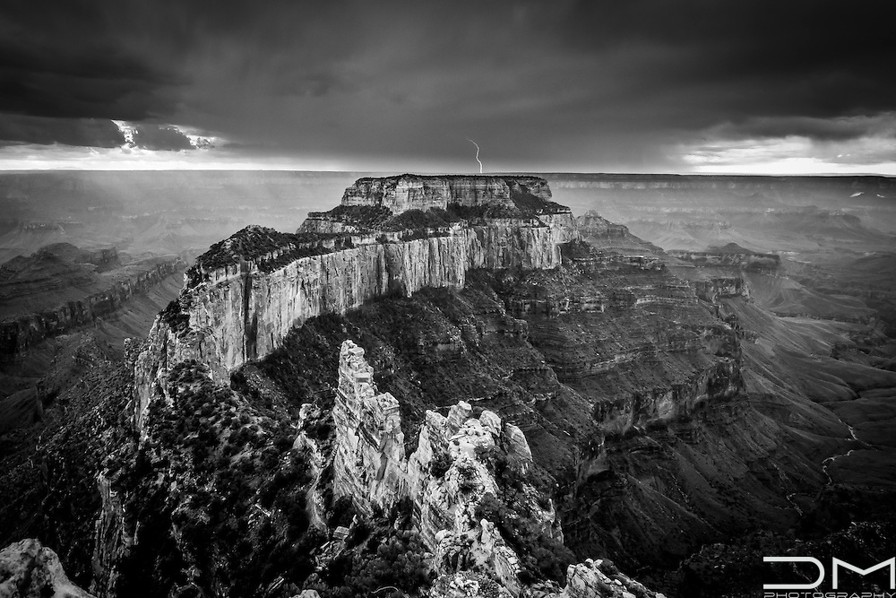 Storm over the Grand Canyon North Rim in Arizona