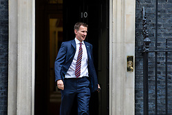 © Licensed to London News Pictures. 24/04/2018. London, UK. Secretary of State for Health and Social Care Jeremy Hunt leaves 10 Downing Street after the weekly Cabinet meeting. Photo credit: Rob Pinney/LNP