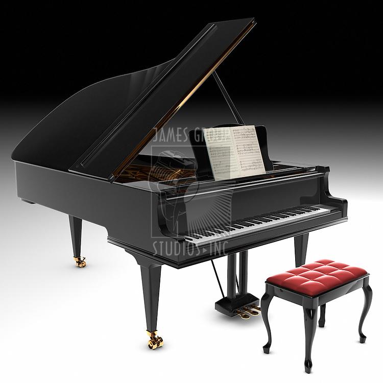 A beautiful classic grand pianio.