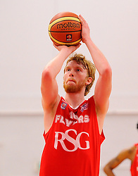 Bristol Flyers' Mathias Seilund takes a free throw  - Photo mandatory by-line: Joe Meredith/JMP - Mobile: 07966 386802 - 18/04/2015 - SPORT - Basketball - Bristol - SGS Wise Campus - Bristol Flyers v Leeds Force - British Basketball League