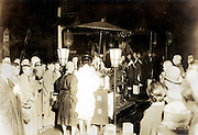 traditional religious ceremony vintage Japan