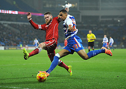 Reading's Nick Blackman is closed down by Cardiff City's Aron Gunnarsson - Photo mandatory by-line: Dougie Allward/JMP - Mobile: 07966 386802 - 21/11/2014 - Sport - Football - Cardiff - Cardiff City Stadium - Cardiff City v Reading - Sky Bet Championship