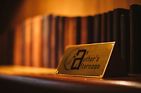 Leather-bound books, a part of the Author's Afternoon project at the Taj Bengal Hotel.
