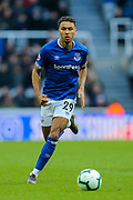 Dominic Calvert-Lewin (#29) of Everton chases after the ball during the Premier League match between Newcastle United and Everton at St. James's Park, Newcastle, England on 9 March 2019.