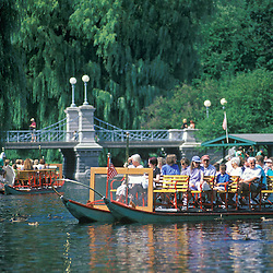 Boston Public Gardens with Swanboats.<br />