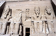 Statues of Rameses II, ruler of Egypt c1304-c1273 BC, at Abu Simbel.
