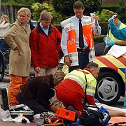 Ongeval Ceintuurbaan - Nieuw Bussummerweg Huizen, fietser onder vrachtwagen, trauma arts
