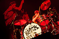 © Licensed to London News Pictures. 12/12/2012. London, UK.   Patrick Carney of The Black Keys performing live at The O2 Arena. The Black Keys is an American rock band formed in Akron, Ohio in 2001. The group consists of Dan Auerbach (guitar, vocals) and Patrick Carney (drums).   Photo credit : Richard Isaac/LNP