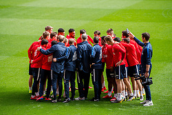 March 22, 2019 - Valencia, SPAIN - 190322 Lars Lagerbäck, head coach of Norway, gathers his players in a circle during a training session on March 22, 2019 in Valencia..Photo: Vegard Wivestad Grøtt / BILDBYRÃ…N / kod VG / 170313 (Credit Image: © Vegard Wivestad GrØTt/Bildbyran via ZUMA Press)