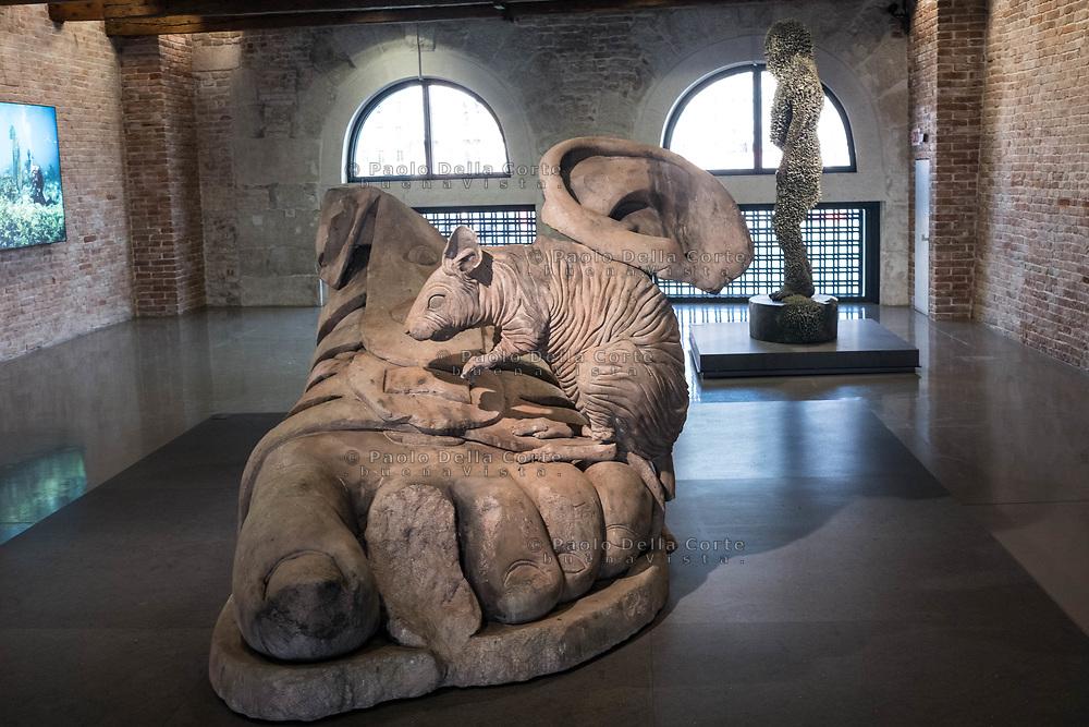 "Venezia - Punta della Dogana . La mostra di Damien Hirst: ""Tresaures from the Wreck of Unbelievable. Remnants of apollo."