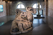 "Venezia - Punta della Dogana . La mostra di Damien Hirst: ""Tresaures from the Wreck of Unbelievable. Remnants of apollo."