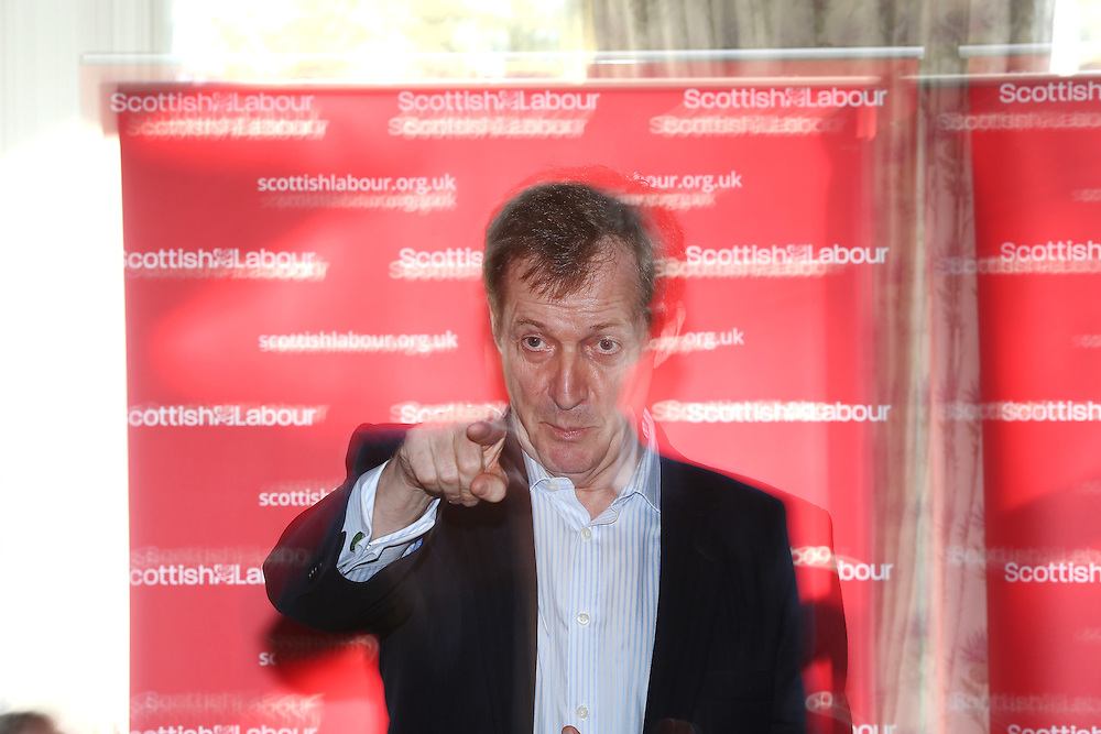 Former Labour spin doctor Alastair Campbell on Labour campaign trail helping to launch Ken Macintosh re-election campaign. The former Labour communications director will speak with activists and take part in a Q&A with party members and the media in Giffnock, Picture Robert Perry 14th March 2016<br /> <br /> Must credit photo to Robert Perry<br /> FEE PAYABLE FOR REPRO USE<br /> FEE PAYABLE FOR ALL INTERNET USE<br /> www.robertperry.co.uk<br /> NB -This image is not to be distributed without the prior consent of the copyright holder.<br /> in using this image you agree to abide by terms and conditions as stated in this caption.<br /> All monies payable to Robert Perry<br /> <br /> (PLEASE DO NOT REMOVE THIS CAPTION)<br /> This image is intended for Editorial use (e.g. news). Any commercial or promotional use requires additional clearance. <br /> Copyright 2014 All rights protected.<br /> first use only<br /> contact details<br /> Robert Perry     <br /> 07702 631 477<br /> robertperryphotos@gmail.com<br /> no internet usage without prior consent.         <br /> Robert Perry reserves the right to pursue unauthorised use of this image . If you violate my intellectual property you may be liable for  damages, loss of income, and profits you derive from the use of this image.