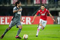 ALKMAAR - 26-11-15, Europa League, AZ  - FK Partizan, AFAS Stadion, 1-2, Partizan speler Babovic, AZ speler Celso Ortiz
