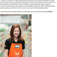 Picture shows Joanne Scott who benefited from the Share Save scheme pictured at the B&amp;Q warehouse at Bamber Bridge nr Preston<br /> Pictures by Paul Currie<br /> www.paulcurriephotos.com<br /> 07796146931
