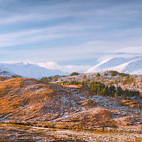 A three frame stitched panorama to take in this wonderful view that met me at the end of my journey down the Glen. I kept expecting some cowboys to ride past as the vistas reminded me of the American mid west