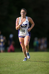 Sarah Emilio of the Western Mustangs  competes in the women's 5k  at the 2015 Western International Cross country meet in London Ontario, Saturday,  September 26, 2015.<br /> Mundo Sport Images/ Geoff Robins