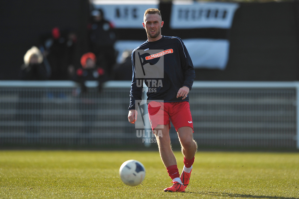 TELFORD COPYRIGHT MIKE SHERIDAN Jon Royle during the Vanarama Conference North fixture between Spennymoor Town and AFC Telford United at Brewery Field, Spennymoor on Saturday, February 29, 2020.<br /> <br /> Picture credit: Mike Sheridan/Ultrapress<br /> <br /> MS201920-048