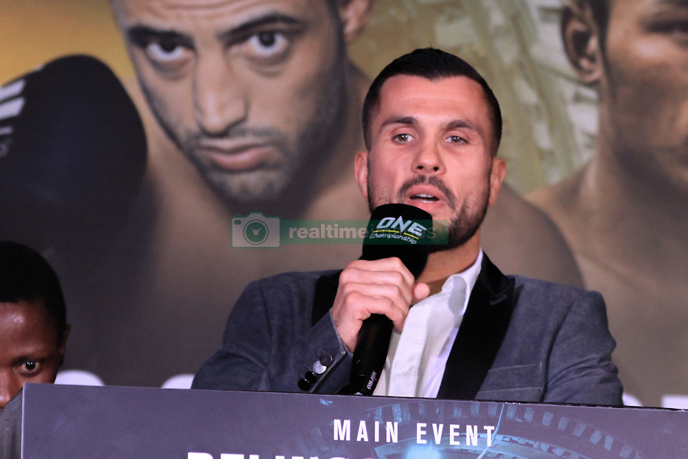 April 17, 2018 - Pasay City, Metro Manila, Philippines - French fighter Fabio Finca shares that he looks forward to competing in front of a hot manila crowd on Friday Night. (Credit Image: © Dennis Jerome Acosta/Pacific Press via ZUMA Wire)