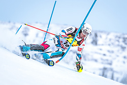 17.02.2019, Aare, SWE, FIS Weltmeisterschaften Ski Alpin, Slalom, Herren, 1. Lauf, im Bild Victor Muffat-Jeandet (FRA) // Victor Muffat-Jeandet of France in action during his 1st run of men's Slalom of FIS Ski World Championships 2019. Aare, Sweden on 2019/02/17. EXPA Pictures © 2019, PhotoCredit: EXPA/ Dominik Angerer