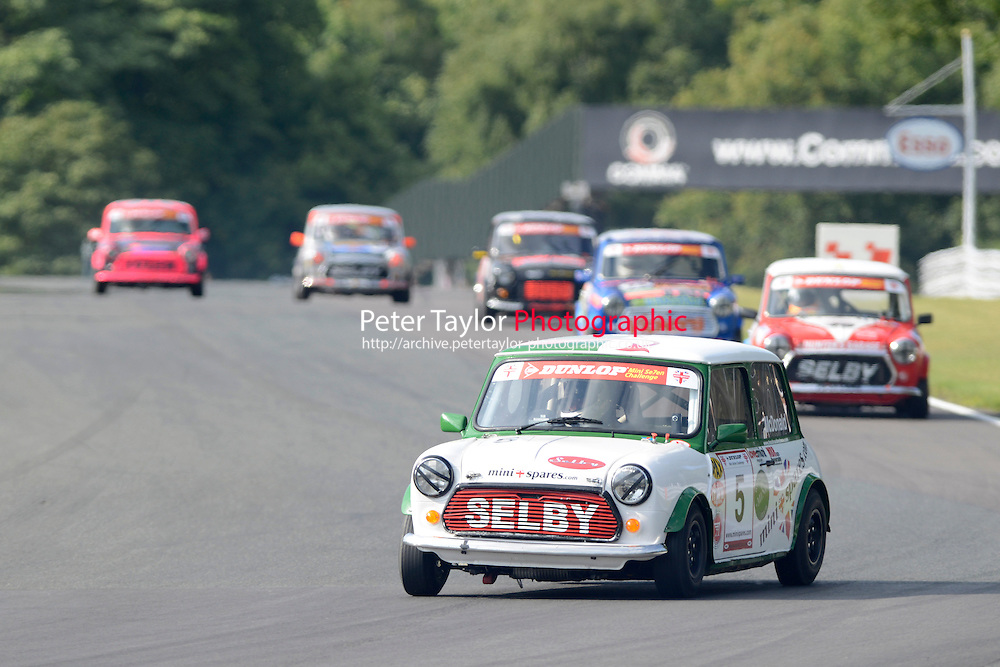 #5 Kieren McDonald Mini 7 during Mini Se7en - Race 2 as part of the Mini Festival  at Oulton Park, Little Budworth, Cheshire, United Kingdom. August 08 2015. World Copyright Taylor/PSP. Copy of publication required for printed pictures.  Every used picture is fee-liable. http://archive.petertaylor-photographic.co.uk