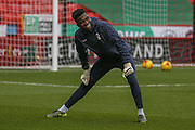 Coventry City goalkeeper Reice Charles-Cook warming up during the Sky Bet League 1 match between Sheffield Utd and Coventry City at Bramall Lane, Sheffield, England on 13 December 2015. Photo by Simon Davies.