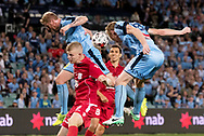 SYDNEY, NSW- NOVEMBER 21: Sydney FC forward Matt Simon (18) almost scores at the FFA Cup Final Soccer between Sydney FC and Adelaide United on November 21, 2017 at Allianz Stadium, Sydney. (Photo by Steven Markham/Icon Sportswire)
