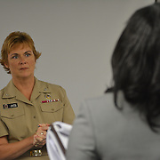 Fort Meade, Md. U.S. Navy Acting Chief of Information, Capt. Dawn Cutler, visited the Defense Information School today.  U.S. Navy Photo by Chief Mass Communication Specialist Roger S. Duncan / RELEASED