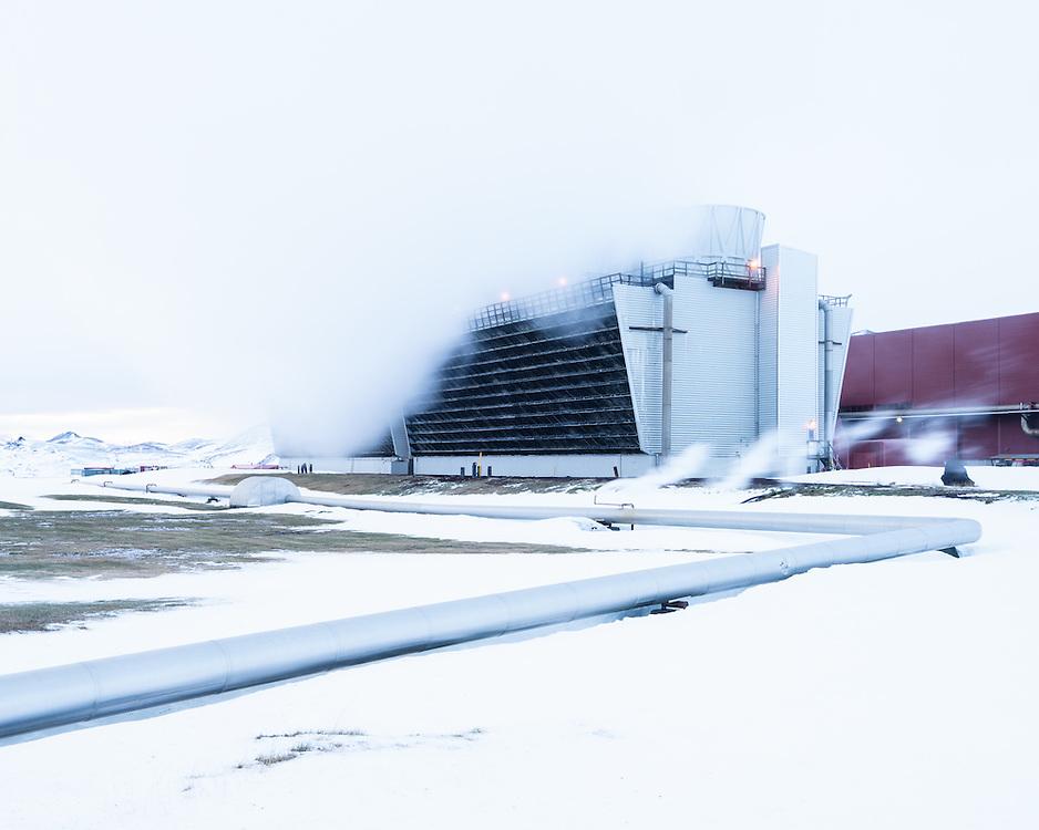 Geothermal powerstation, Krafla, Iceland